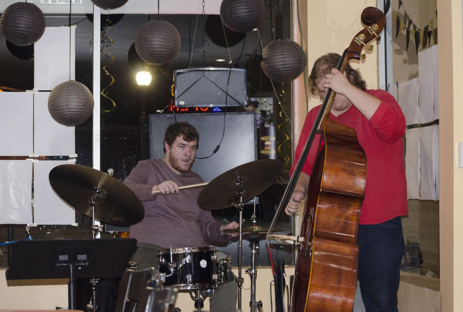 Jazz studies majors Lars Swanson, Hogan Bentle and Cody Henley were the trio that performed a repertoire, plays or pieces of music that a musician has learned.