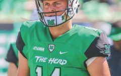 Marshall quarterback Chase-ing history