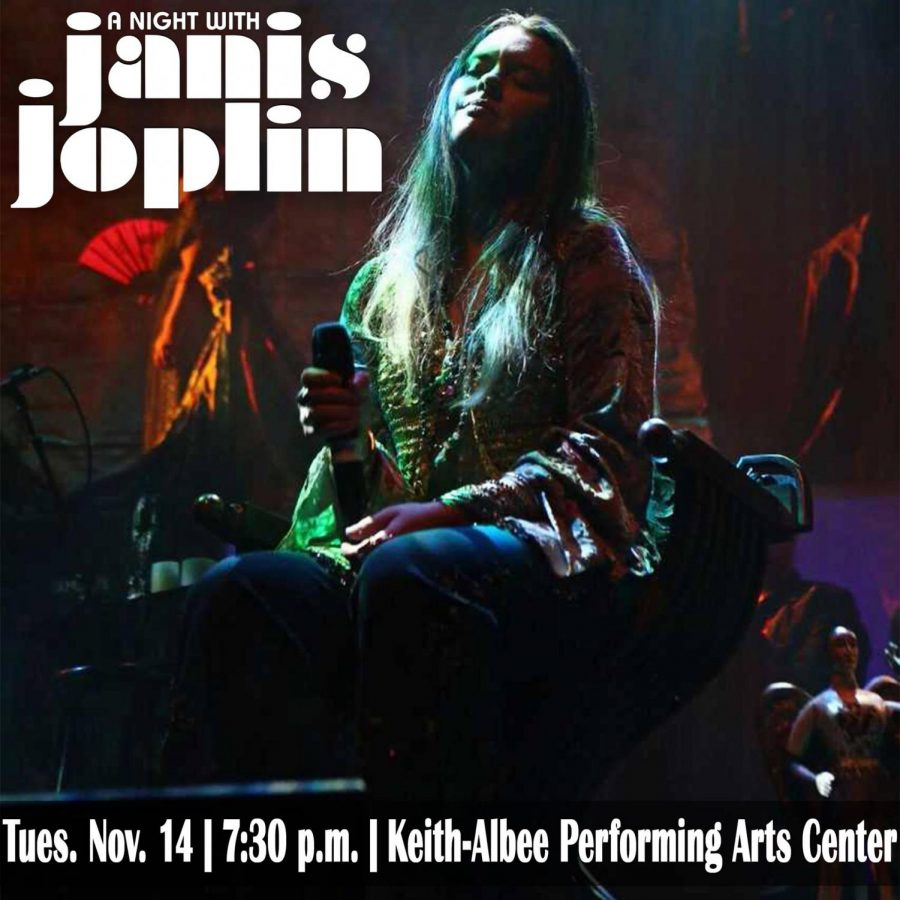 Broadway+musical+%E2%80%9CA+Night+with+Janis+Joplin%E2%80%9D+will+come+to+the+Keith-Albee+Tuesday+at+7%3A30+p.m.+The+musical+features+Joplin%E2%80%99s+most+famous+songs+like+%E2%80%9CMe+and+Bobby+McGee%E2%80%9D+and+%E2%80%9CCry+Baby.%E2%80%9D