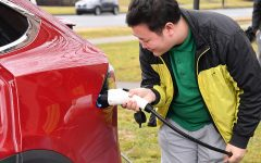 Electric car charging station arrives at Marshall