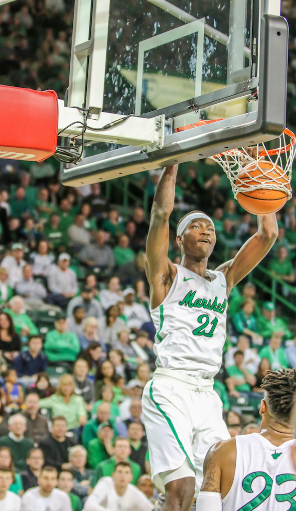 Darius George dunks against UAB. George returned to action last week after missing six games with an injury.