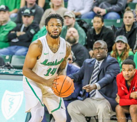 Herd men's basketball routs Charlotte on senior night 103-75