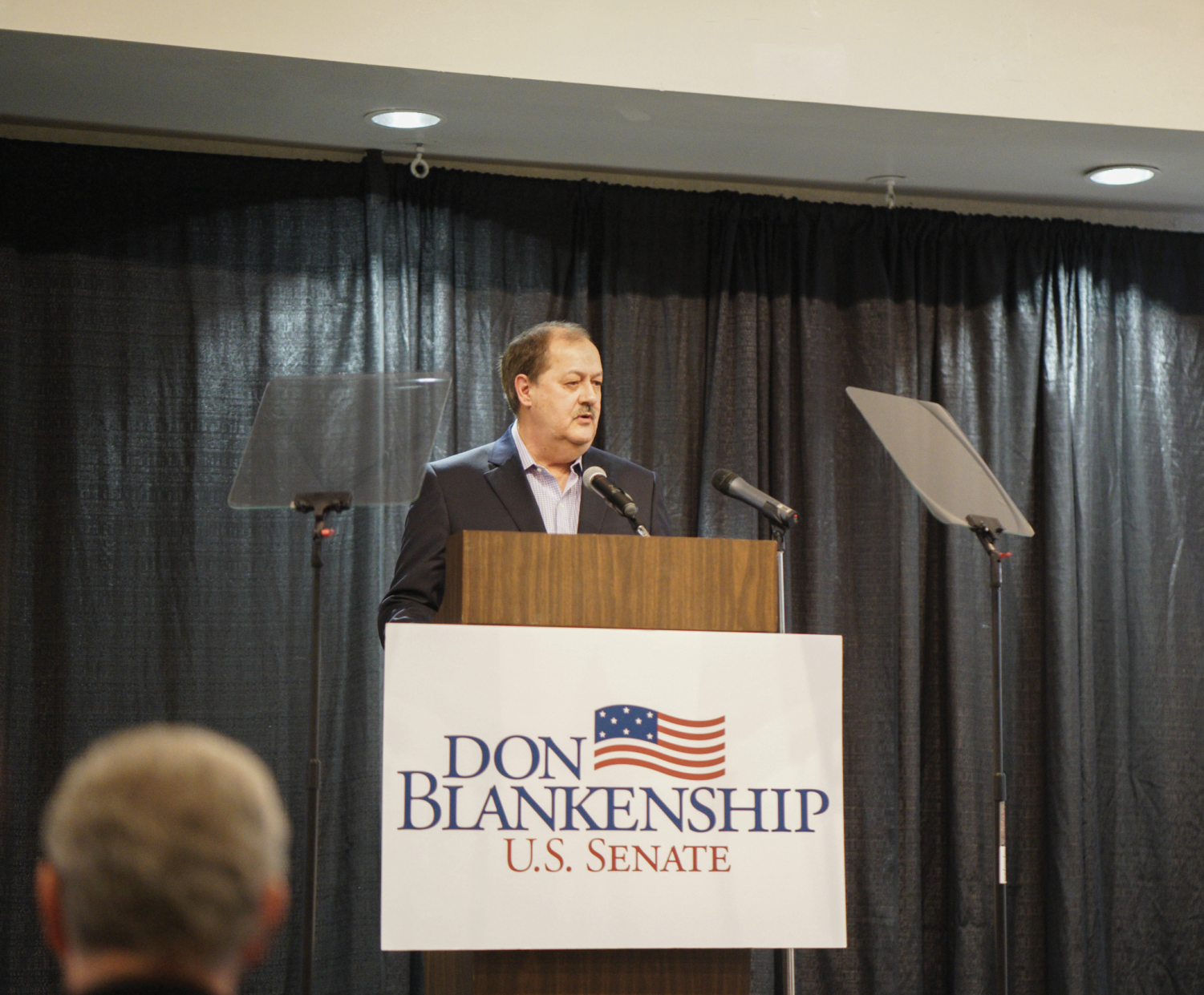 Controversial senatorial candidate Don Blankenship, laying out his agenda.