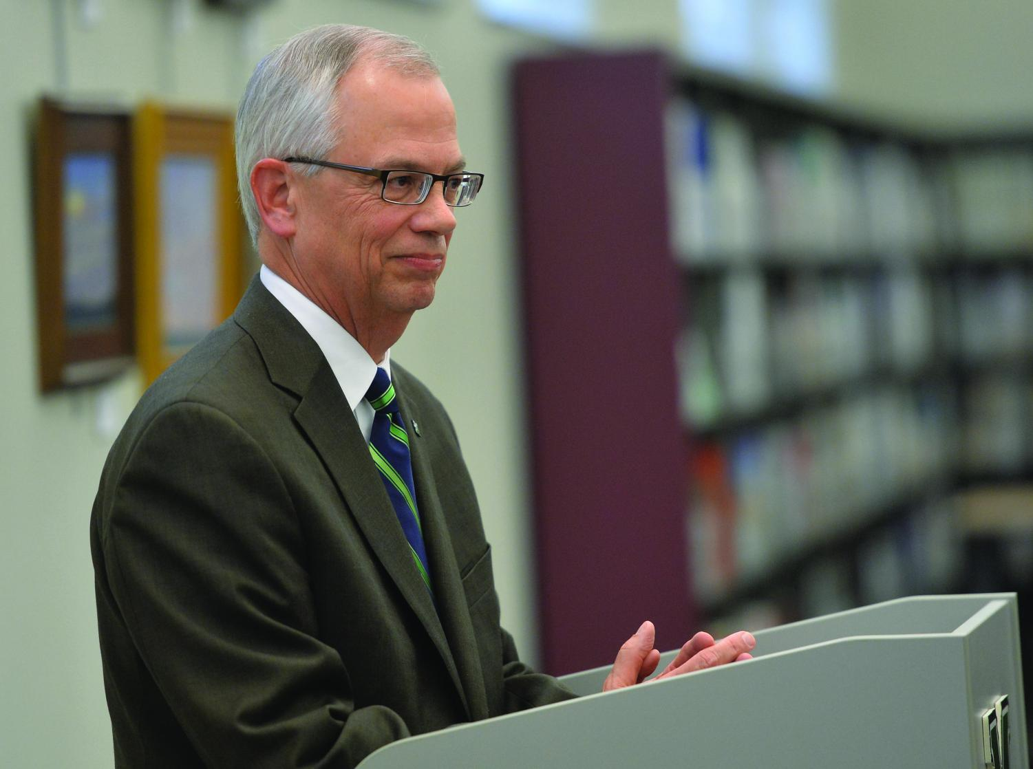 Marshall University President Jerry Gilbert continues college recruitment trip around the state. He has already visited 25 different high schools and plans to visit 12 more to complete all of the Southern West Virginia schools.
