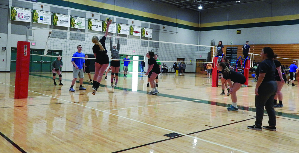 Alpha Sigma Phi's and Delta Zeta's fifth annual Spike for a Cause Volleyball Tournament raised roughly $1,800 for their philanthropies, Homes For Our Troops and the Starkey Hearing Foundation.
