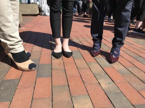 Marshall walks a mile in her shoes