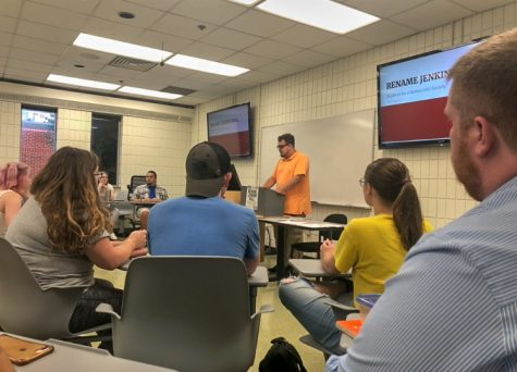 Students meet to discuss renaming of Jenkins Hall