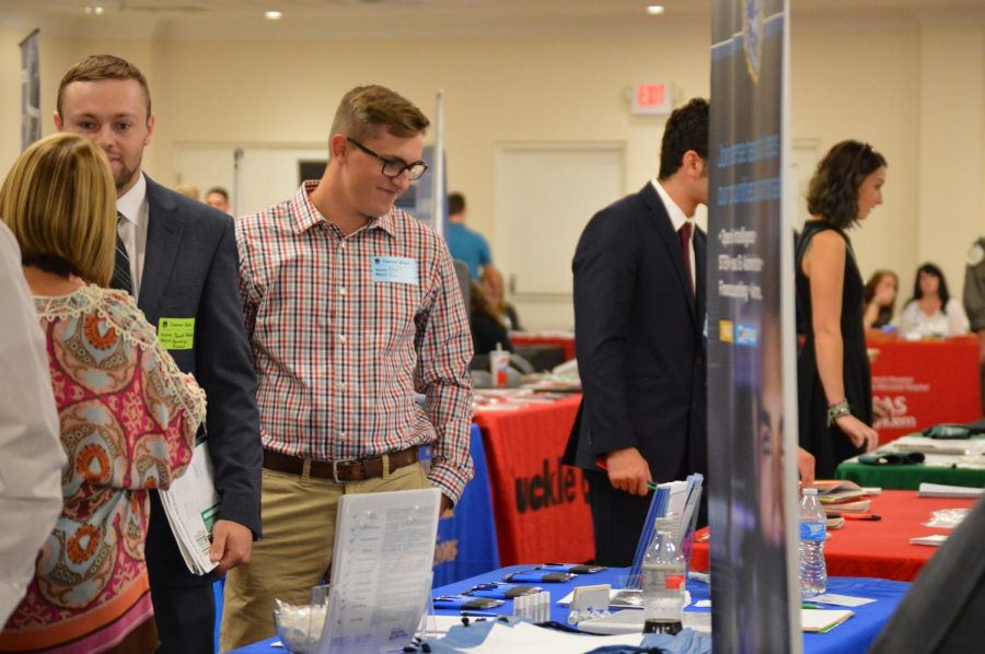 Marshall University's Career Services sponsored the Career Expo on Tuesday, Oct. 9th, in the Don Morris Room for students and community members to meet with local businesses.