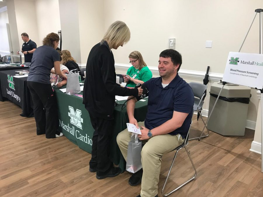 The+Health+and+Wellness+fair+offered+free+flu+vaccinations+for+Marshall+students+and+faculty.
