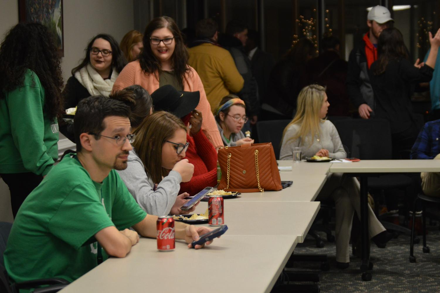 Students meet with SGA for its first House of Representatives meeting on Nov. 27.