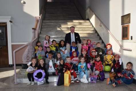 Local day-cares participated in City Hall's safe Trick or Treat