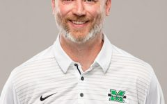 Marshall's men's soccer head coach, Chris Grassie.