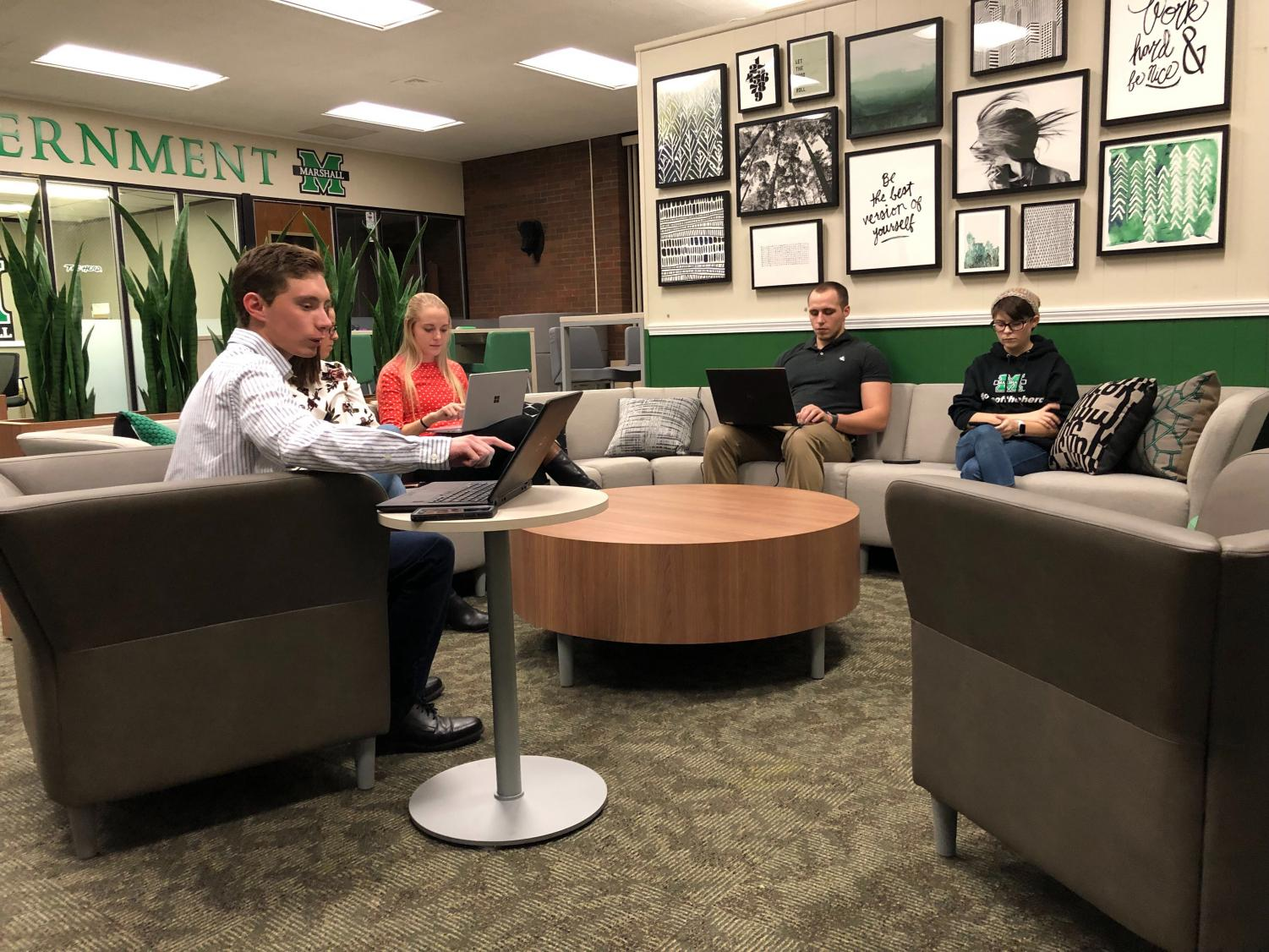 Members of Marshall's student body cabinet discussed textbook affordability for students and the possible addition of a TEDx event for students and faculty in the future.