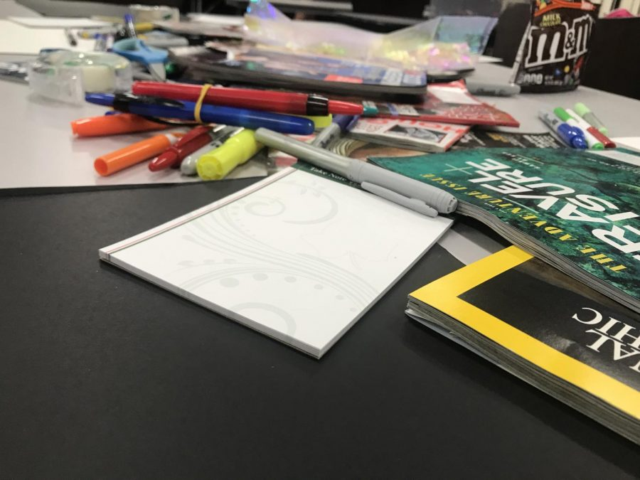Students+used+magazines+and+other+materials+to+create+personal+vision+boards.