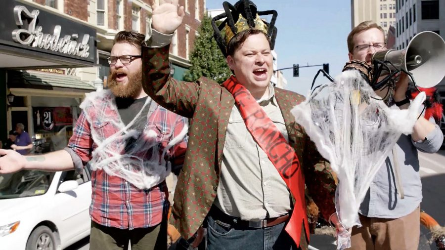 "(From left) Travis McElroy, Justin McElroy and Griffin McElroy are co-hosts of popular podcast and online television series ""My Brother, My Brother and Me."" During their live recording Nov. 2 at the Keith-Albee, Travis McElroy and wife Teresa McElroy will give a live recording of podcast ""Shmanners,"" while Dr. Sydnee McElroy and husband Justin will perform ""Sawbones."""