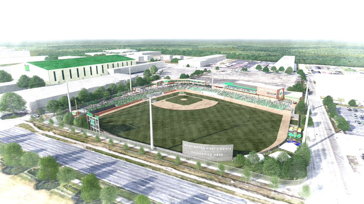 Renderings of Marshall baseball's future home, which will be located at 5th Avenue and 24th Street.