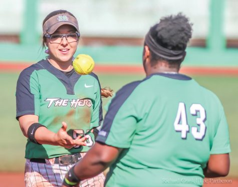 Herd softball remains undefeated at home after sweeping weekend series