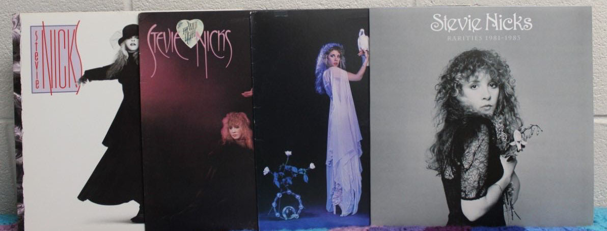 The Ginger's collection of Stevie Nicks' solo albums. Stevie will be the first woman inducted into the Rock and Roll Hall of Fame twice on March 29.