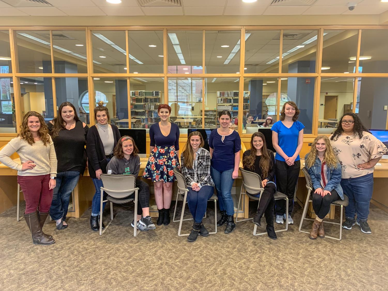Members of the Women in Cyber club hope to empower women interested in learning about technology-based fields.
