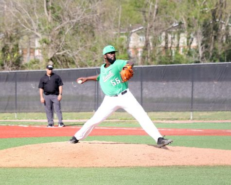 D'Andre Knight pitches against Ohio.