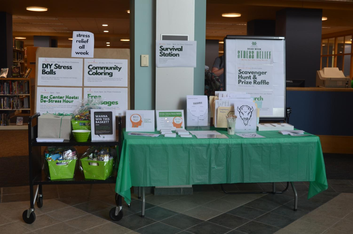 Marshall University Libraries, the Campus Activities Board and more organizations aimed to ease students' minds with relaxing activities by turning Dead Week into Stress Relief Week.