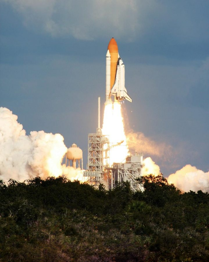 The+Space+Shuttle+takes+off+from+Cape+Canaveral%2C+Florida+at+NASA.