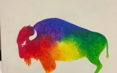Students paint diversity bison, celebrate Unity Month