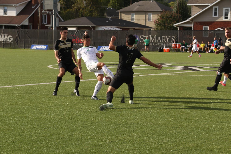 Marshall University men's soccer team versus Purdue in fall 2018.