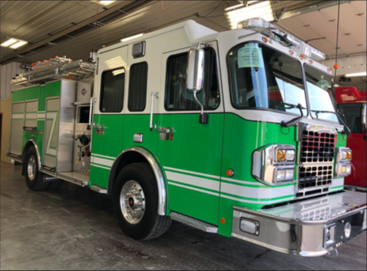 Last month, Huntington Fire Department personell traveled out of town to inspect the engine.
