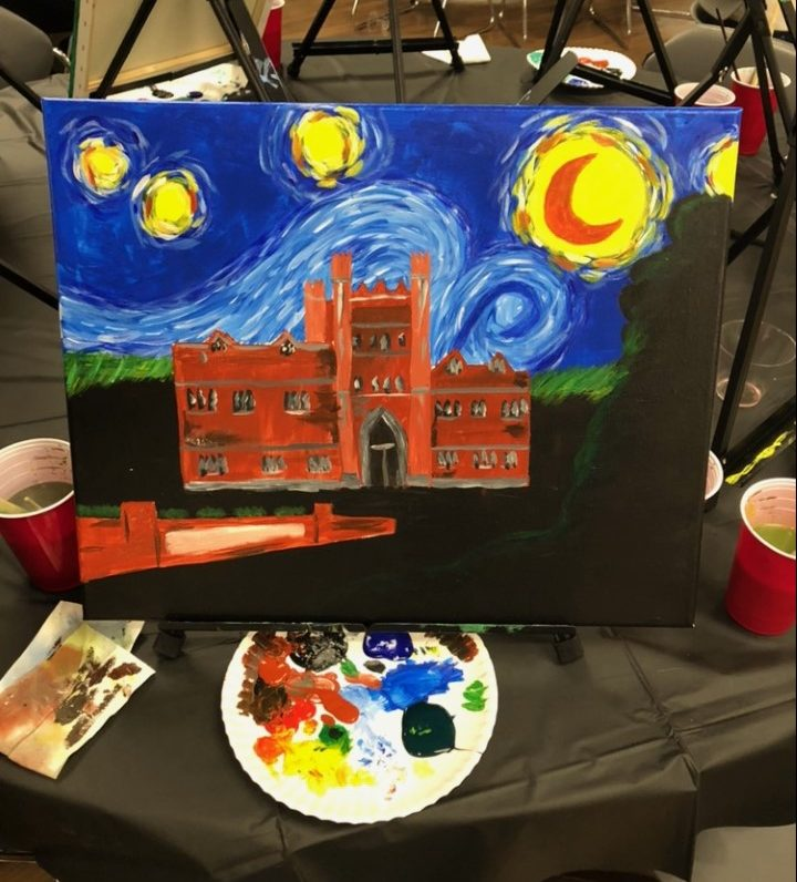 In past DIY events, students have created countless works of arts and crafts, including the painting of Old Main pictured above.