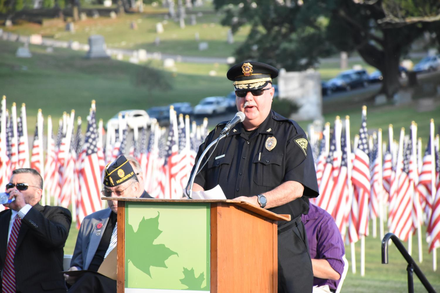 Huntington+Police+Chief+Hank+Dial+spoke+at+the+event.+
