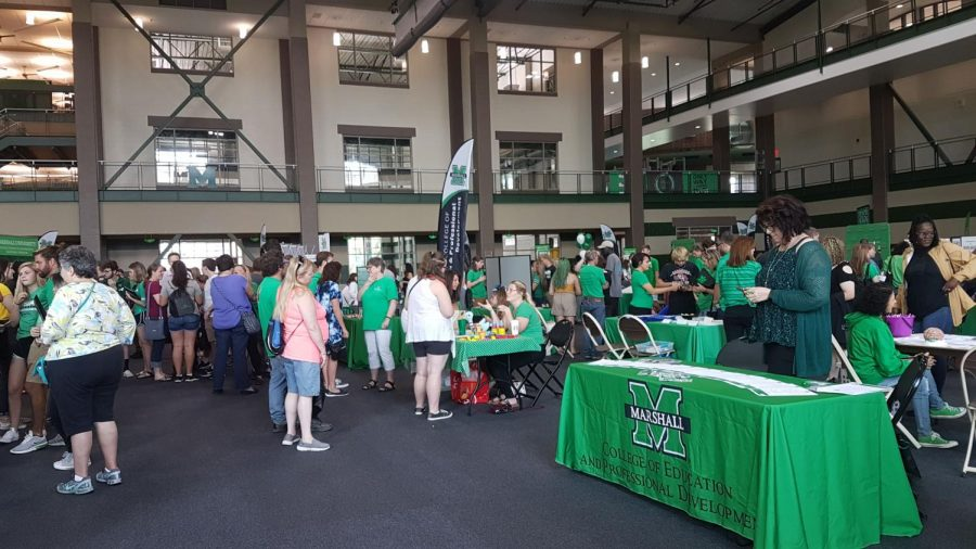 High+school+students+and+family+members+visited+Marshall+University+during+Green+and+White+Day+Saturday%2C+Sept.+28.