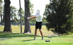 Tyler Jones tees off at the 50th Joe Feaganes Marshall Golf Invitational.