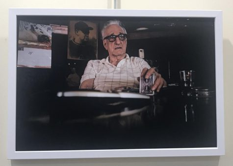 """From artist Pete Marovich. In Beaver County, Pennsylvania from May 7, 2015: George """"Blackie"""" Miller sits in his bar, Mahoney's, in West Aliquippa. Miller, who changed his last name from Dokmanovich years ago, was born in West Aliquippa and lived there all of his life. He has seen the town go from boom to bust along with the steel industry. """"This town is done,"""" says Miller."""