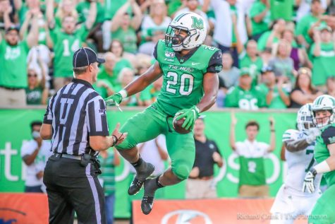 A SPORTS FAN'S DREAM:How one Marshall student found her home with the Thundering Herd