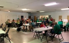 Members of Marshall and Huntington communities come together during Lunch for a Buck event offered every other Tuesday