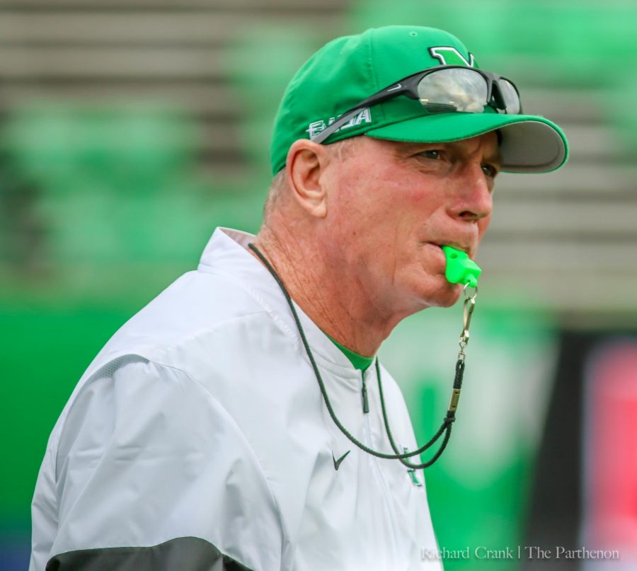 Doc+Holliday+prior+to+kickoff+in+the+Herd+game+vs+WKU.+