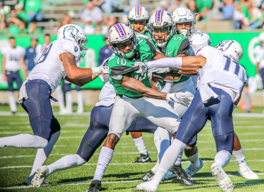 Tavin Richardson and Kereon Merrell in the game against Old Dominion