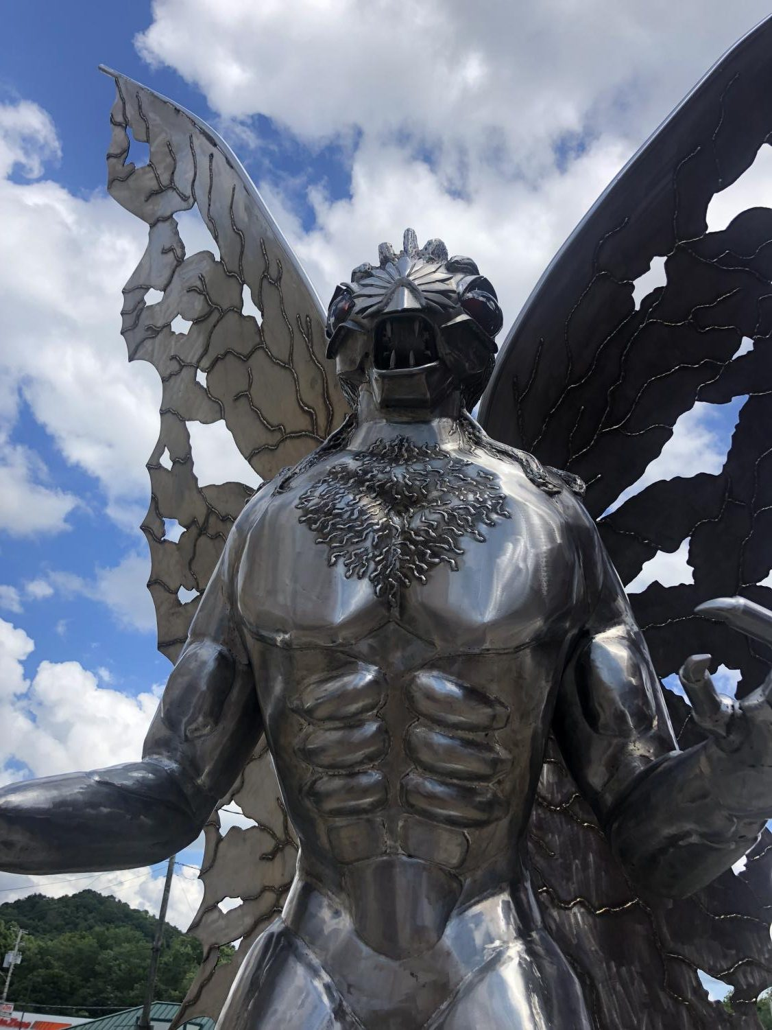 A statue of Mothman is in Point Pleasant.