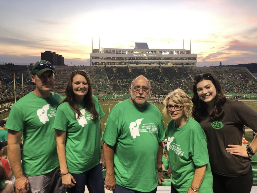 Sophomore exercise science major Chloe Cook and her family attended the Marshall vs. Cincinnati game on Saturday.
