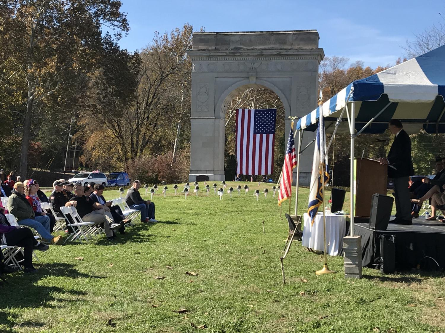 Legislative members, families, children and canines alike honored Veterans at a Veterans Day program and ceremony.
