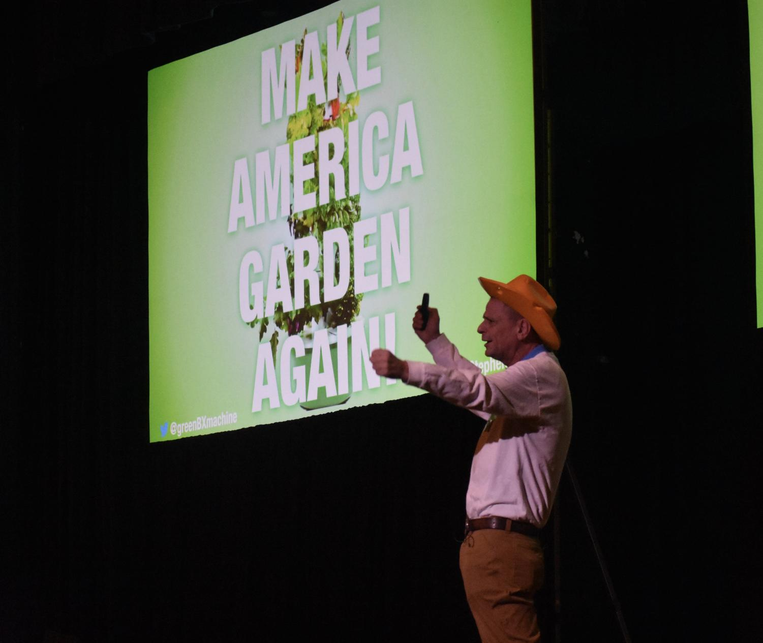 Stephen Ritz, a South Bronx educator, speaks in Huntington about Green Bronx Machine Nov. 14.