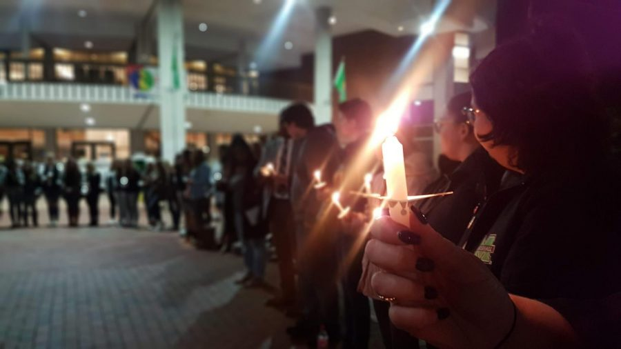 The Take Back the Night event, organized to show support for survivors of sexual violence and to raise awareness about available resources, was comprised of speeches, survivors' stories andcandlelight Nov. 6.