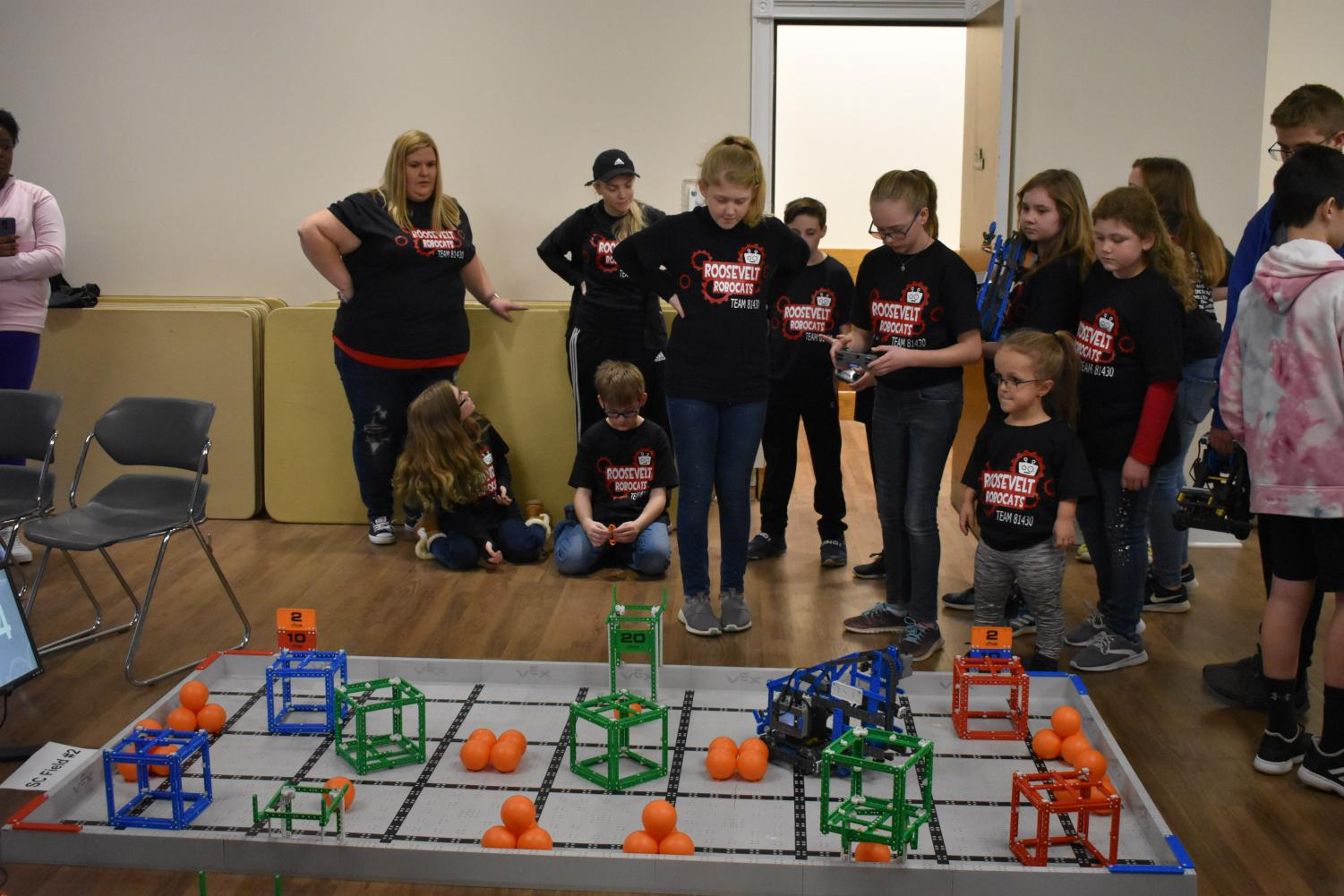Area students compete in the Vex Robotic Challenge.