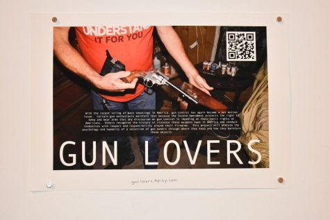 "One of the pieces featured in the exhibit, ""Gun Lovers"" by Sean Laishley, is an analysis of the gun culture in the state of West Virginia. You can view the full story at gunlovers.epizy.com"