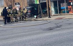 Vehicle crashes into pizza restaurant near Marshall's campus