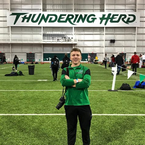 Patrick O'Leary helped cover one of many Marshall Track and Field meets in Huntington.