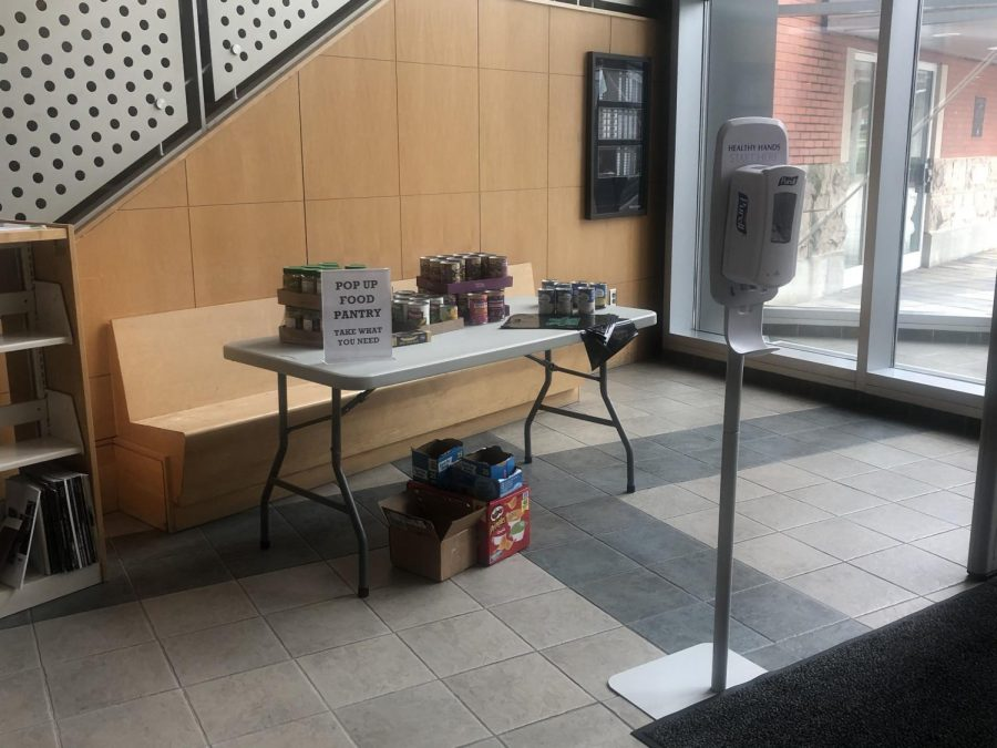 In addition to their food pantry, Drinko Library offers hand sanitizer stations and recommends practicing social distancing on campus. Dining services such as Harless Dining Hall, Chick-fil-A and Starbucks will remain open.