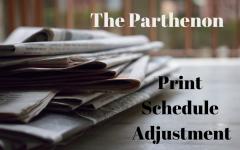 Updates to print schedule