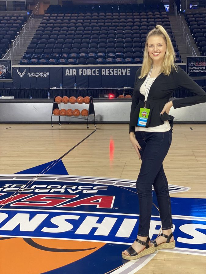 Sports+Editor+Taylor+Huddleston+traveled+to+Frisco%2C+Texas+for+the+2020+Conference+USA+Basketball+Tournament+to+cover+Marshall+men+and+women%E2%80%99s+basketball+teams.